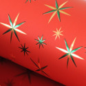 Rotoli carta regalo Star Metal rosso