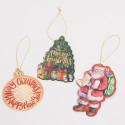 Set 12 Etichette Natale con cordino Oro
