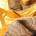 Fogli Pandoro Panettone beige oro