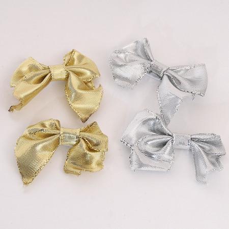 Scatola di Fiocchi in stoffa metal adesivi