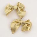 Scatola di Fiocchi in stoffa oro