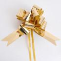 Fiocchi con tirante metallizzati oro