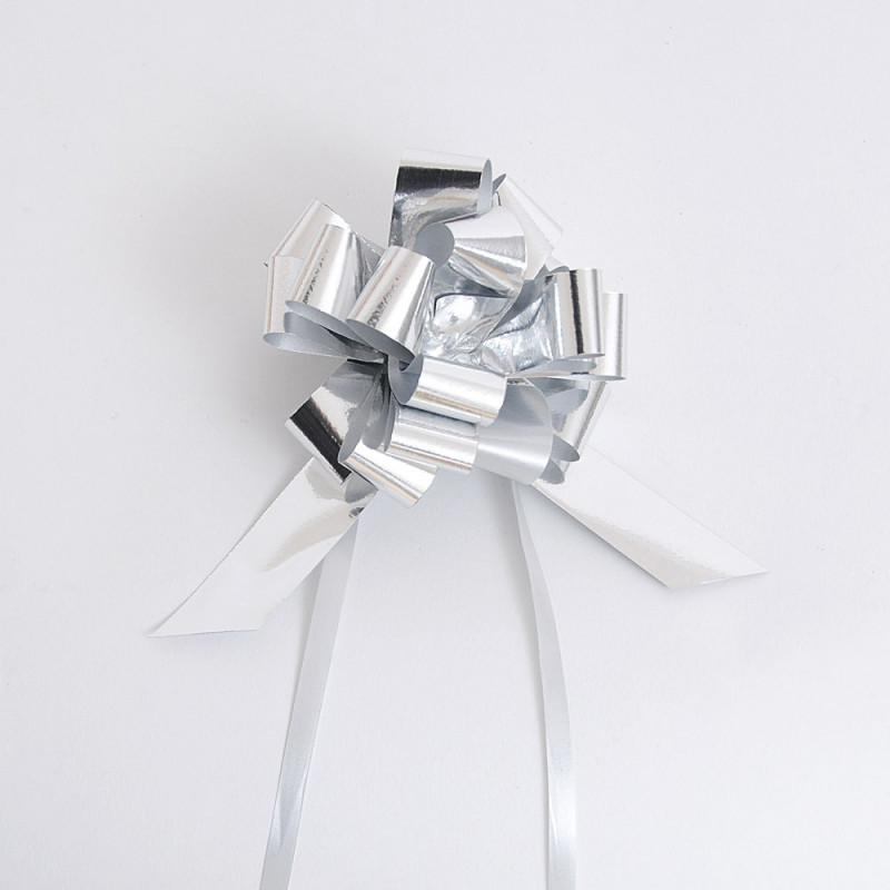 Fiocchi con tirante metallizzati argento