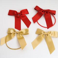 Fiocchi stoffa grandi con adesivo o elastico