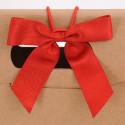 Fiocchi stoffa grandi con adesivo o elastico rosso