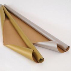 Carta Regalo in Rotoli Avana stampa piatta Oro e Argento