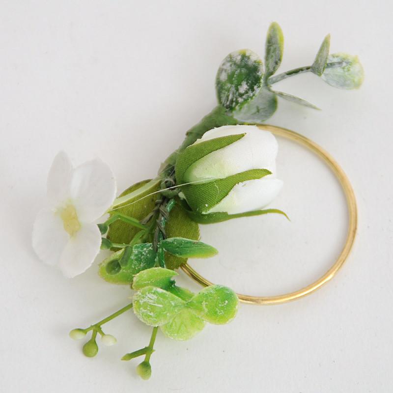 Cerchi Oro con Rosa bianca