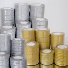 Nastri Regalo tessuto oro argento pacco convenienza Goldever