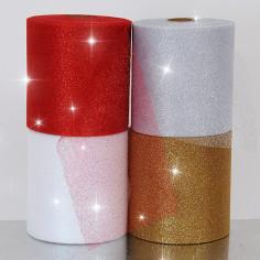 Rotoli Tulle Glitterati 12,5 cm