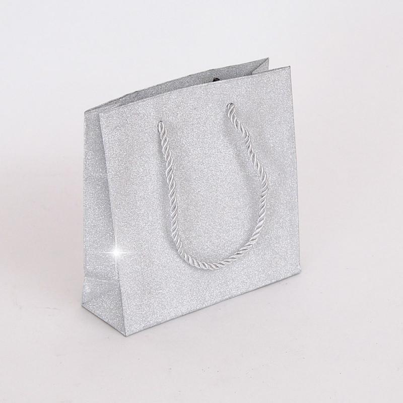 Borsine Glitter con cordino argento