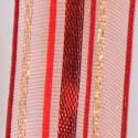 Nastri a strisce dominante rosso