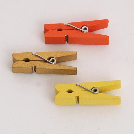 Mollette in legno 144 pezzi 35 mm