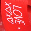 Nastri Raso Love XOXO rosso