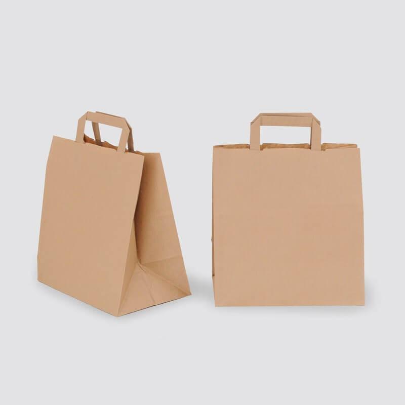 Shopper Carta Kraft Avana Maniglia Piatta