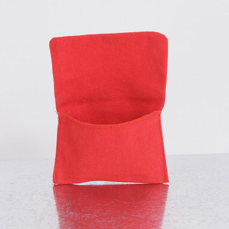 Buste a portafoglio rosse