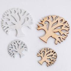 Alberi della vita in legno naturale e bianco