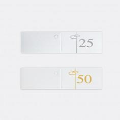 Bigliettini Fustellati in foglio A4 50, 25 ...esimo
