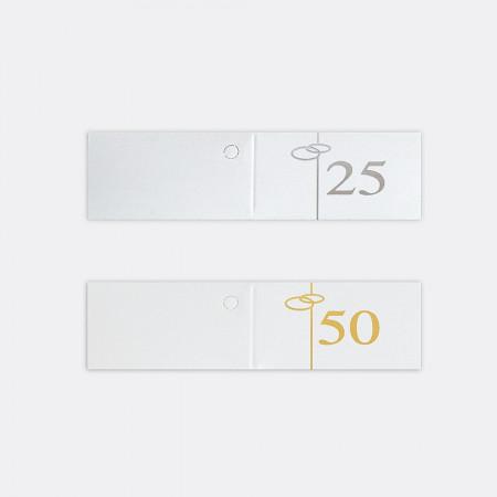 Bigliettini Fustellati in foglio A4 Anniversario 50°, 25° ...esimo