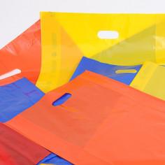 Shopper Plastica Scatole da 5kg, PELD 60my con Soffietto e Maniglia a Fagiolo