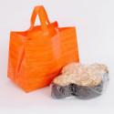 Borse Colomba in plastica telata arancio