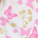 Tondi Smerlati Primavera farfalle rosa