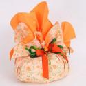 Tondi Smerlati Primavera fiori base arancio