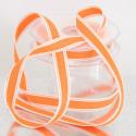 Nastri in cotone stampa cucito arancio
