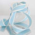 Nastri in cotone stampa cucito azzurro
