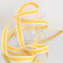 Nastri in cotone stampa cucito giallo