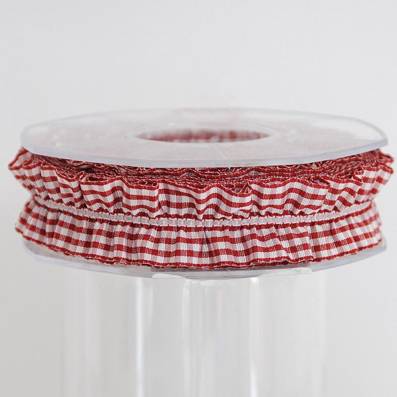 Nastri Arricciati con elastico rosso