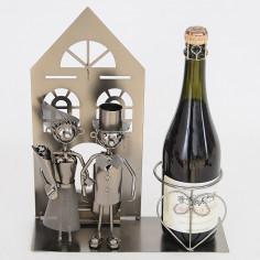 Porta Bottiglia in Metallo Casa Sposi