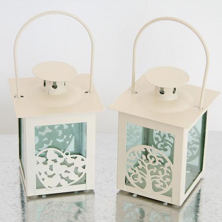 Lanterne Avorio Albero e Cuore