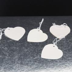 Cuore Cartoncino con elastico bianco