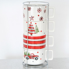 Tazze Natale con Display in Metallo