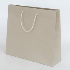 Shopper Fashion manici cotone Tortora