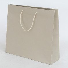 Shopper Fashion manici cotone Tortora
