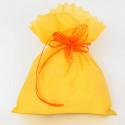 Sacchetti in tessuto giallo pieno