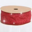 Nastri Natale Glitterati red 38
