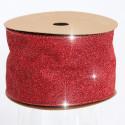 Nastri Natale Glitterati rosso 63