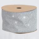 Nastri Natale Glitterati argento 63