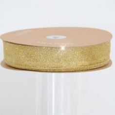 Nastro rete oro glitter animata