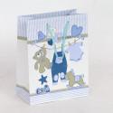 Borsa regalo Nascita Orsetti azzurro