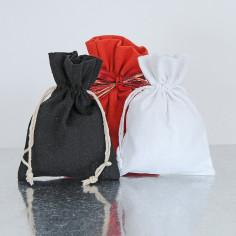 Sacchetti in cotone con lacci per bomboniere 12