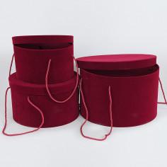 Set tre Cappelliere velluto con cordino