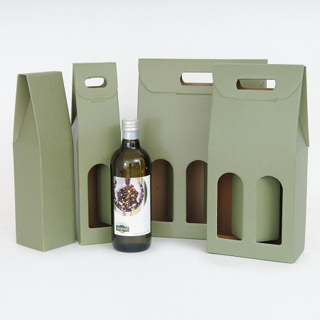 Scatole Olio Litro Riga Verde