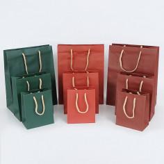 Shopper LUSSO Colori Caldi con Maniglia Cotone