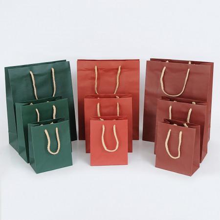Shopper LUSSO Rinforzate Colori Caldi con Maniglia Cotone