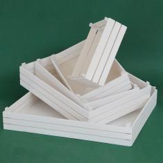 Cassetta in legno bianco