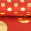 Rotoli carta regalo Pois double Metal rosso
