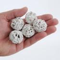 Palline di rattan Brunch Ball bianco